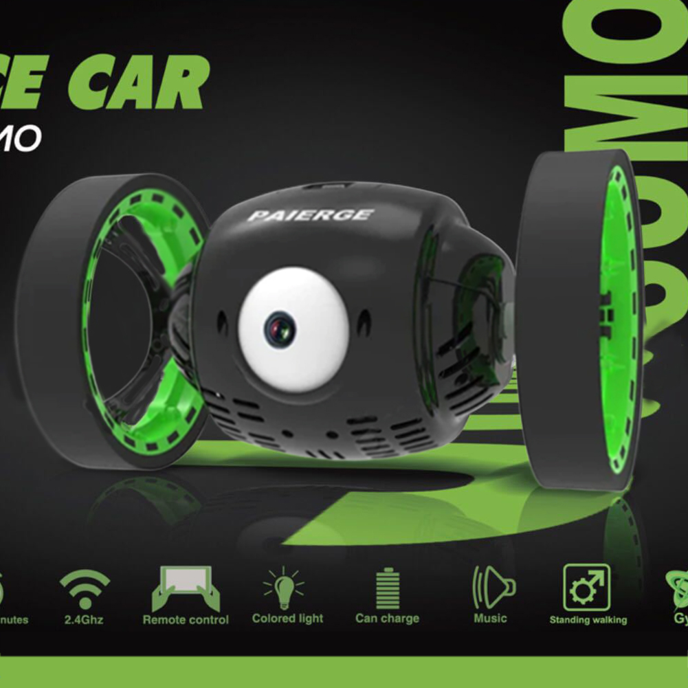2.4G Intelligent Big Eye Bounce Car Remote Control Car 360 Degree Stunt RC Car WIFI200W intelligent big eye bombing