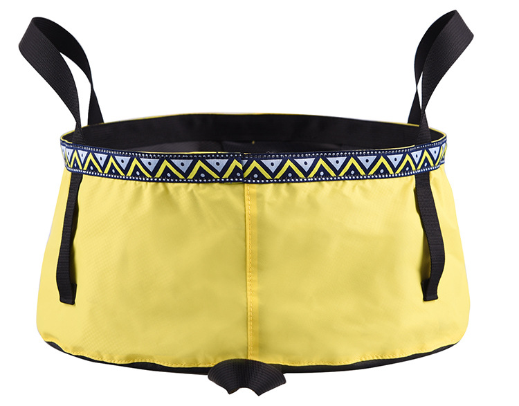 6/8/12L Folding Washing Basin 8.5L Outdoor Hiking Camping Bucket Portable Water Pot Goose yellow_6L