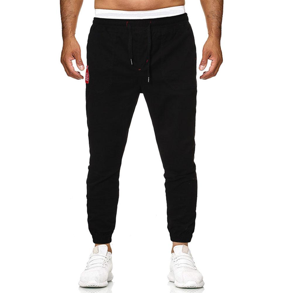 Men's Casual Pants Spring and Autumn Overalls Cotton Fine Canvas Slim Business Pants black_3XL