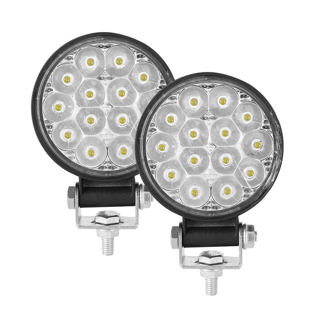 2PCS 10-30V 6000K 72W Car LED Light Mini 3 inch 14 beads Round Lamp Off-road Car Headlights Motorcycle Spotlights