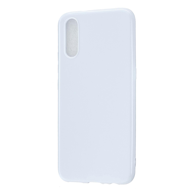 For VIVO IQOO Neo/Y97 Glossy TPU Phone Case Mobile Phone Soft Cover Anti-Slip Full Body Protection Milk white