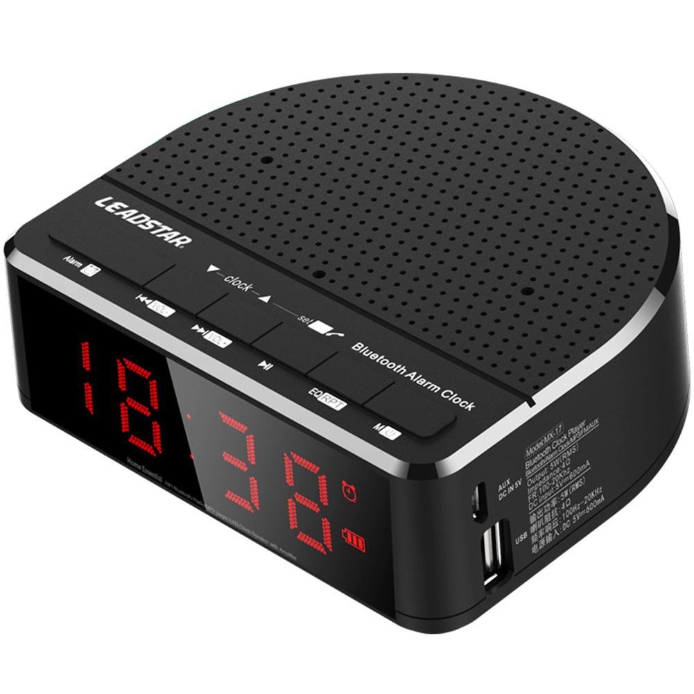 Wireless Bluetooth Radio Alarm Clock Phone Subwoofer Speaker Home Decration black_MX-01