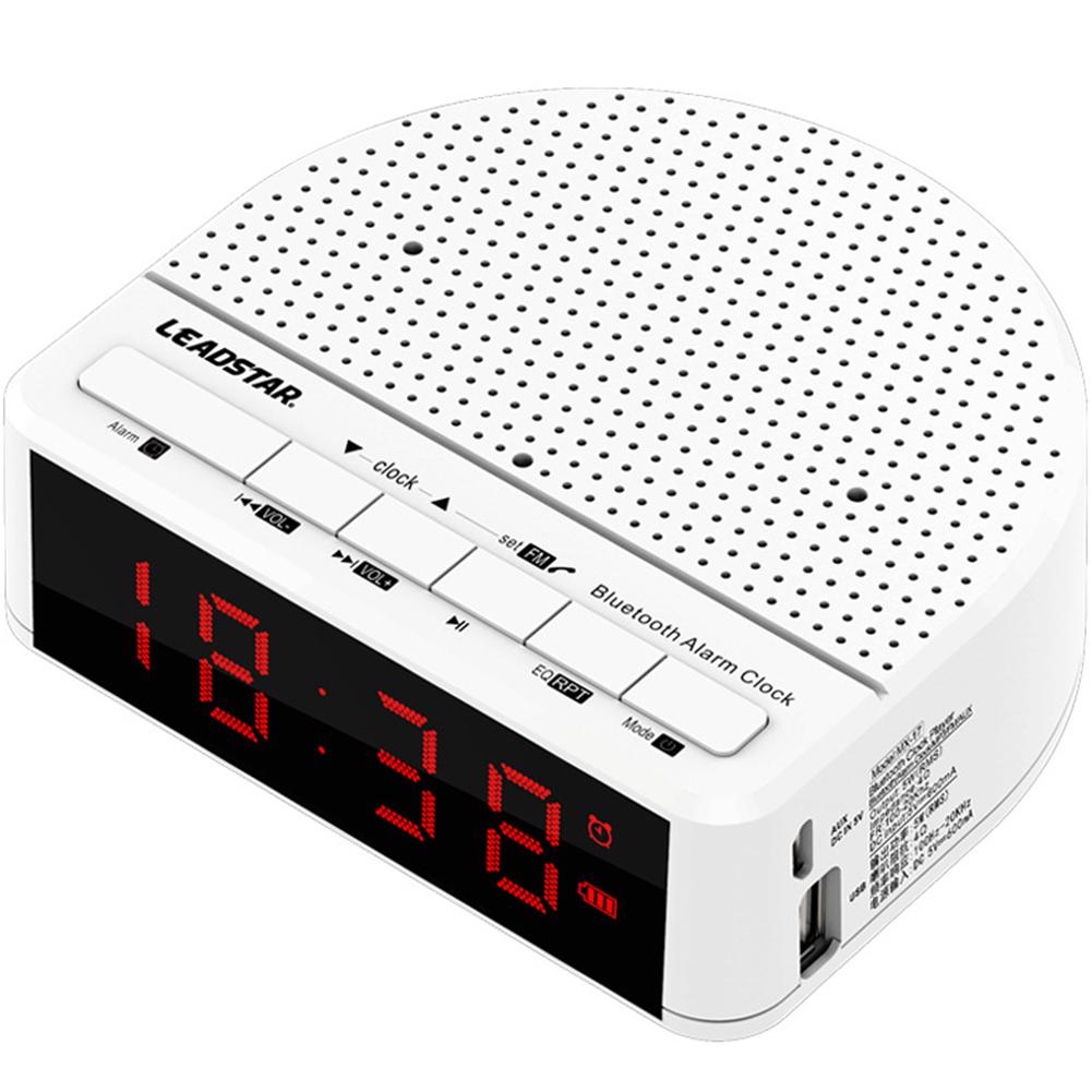 Wireless Bluetooth Radio Alarm Clock Phone Subwoofer Speaker Home Decration white_MX-01