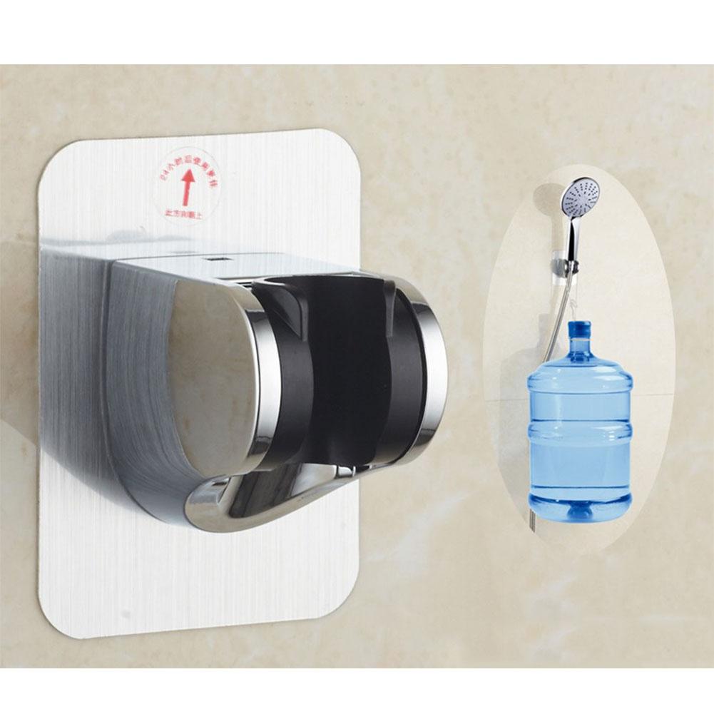 Wall Mounted Handle Rotatable Adjustable Sprinkler Shower Hose Head Holder Stand Bracket Base  Plating free drilling base