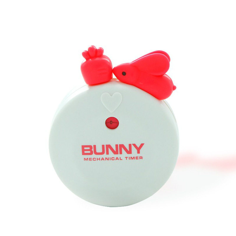 Rabbit Shape Kitchen  Timer Portable Cooking Countdown Alarm Cooking Assistant Baking Tools white