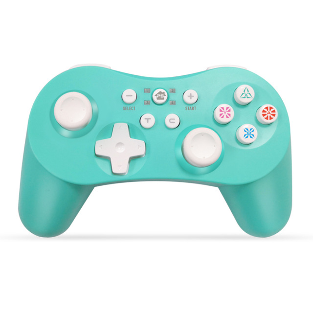 5 in 1 Bluetooth Controller with Six Axis Gamepad Joystick Joypads for Switch/PS3/PC/PC360/Android green