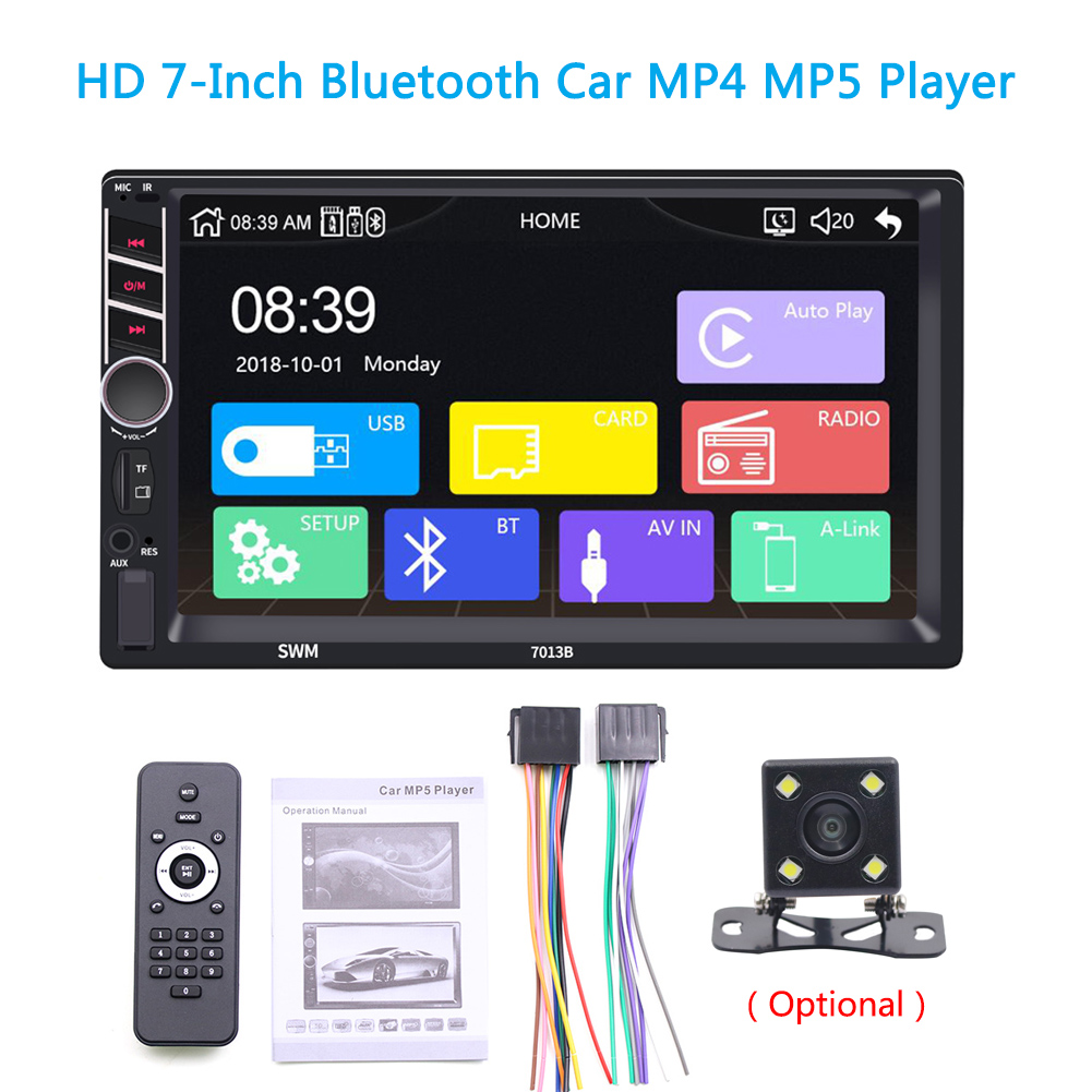7013B_Carplay 7 Inches Hd Car Video MP4/MP5 Car MP3 Plug-in Card Usb Flash Drive Radio Without camera