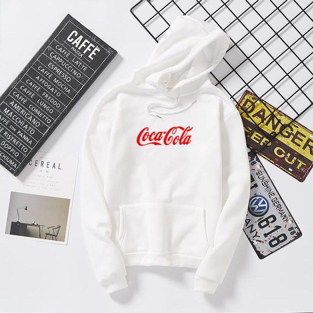 Men Women Coca-Cola Hoodies Retro Casual Fashion Sweatshirts White 995#_L