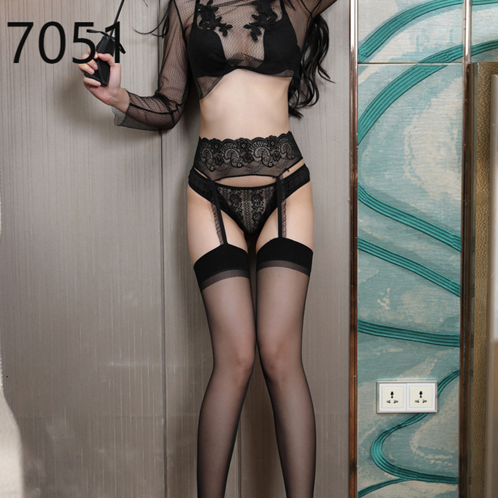 Summer Sexy Women Lace Top Tights Stay Up Thigh High Stockings Lady Fashion Nightclubs Pantyhose 7051