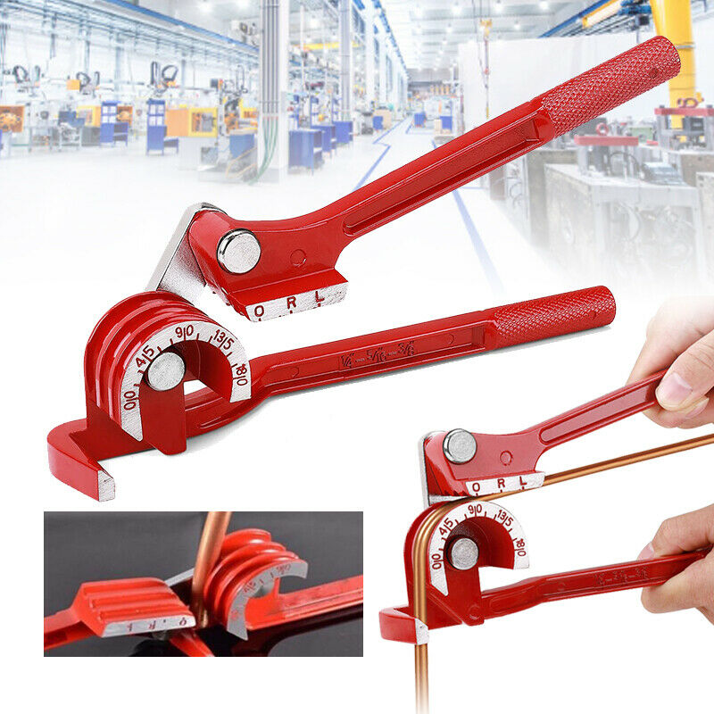 3 in 1 Tubing Pipe Bender 1/4in 5/16in 3/8in Tube Aluminum Copper Steel Fuel Brake Lines 180 degree inch three-in-one manual pipe bender