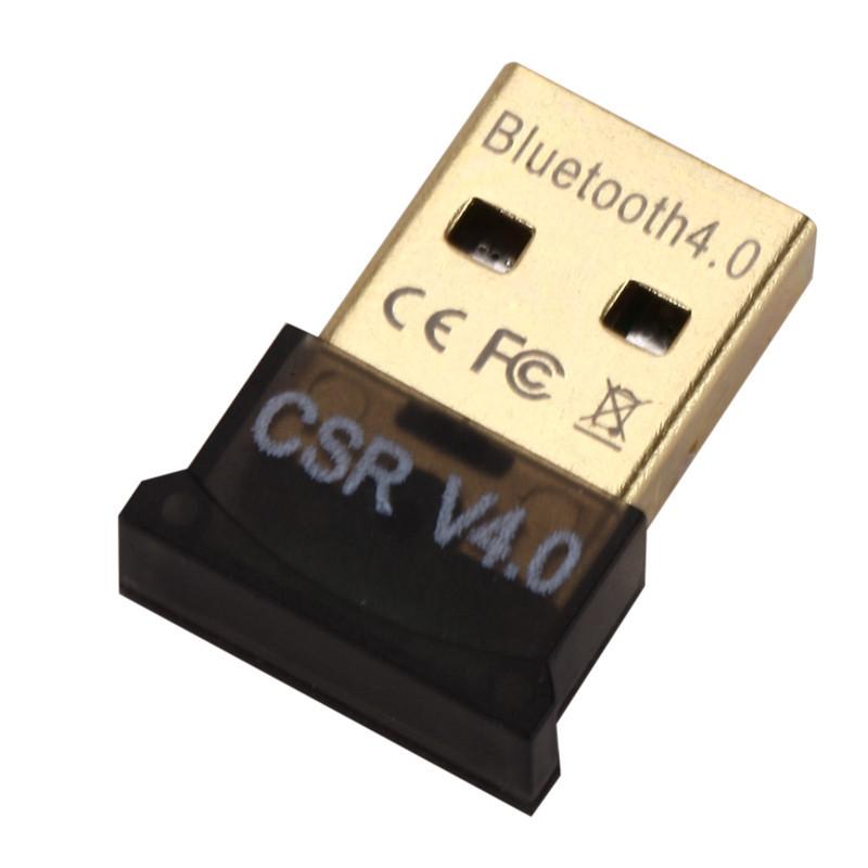 New Mini USB Bluetooth Adapter CSR Dual Mode Receiver for Windows 10/8/7/XP V4.0 black