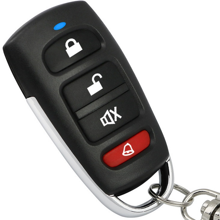433 Remote Control Garage Door Universal Self-copy Remote Control Car Anti-theft Alarm Remote Control Black