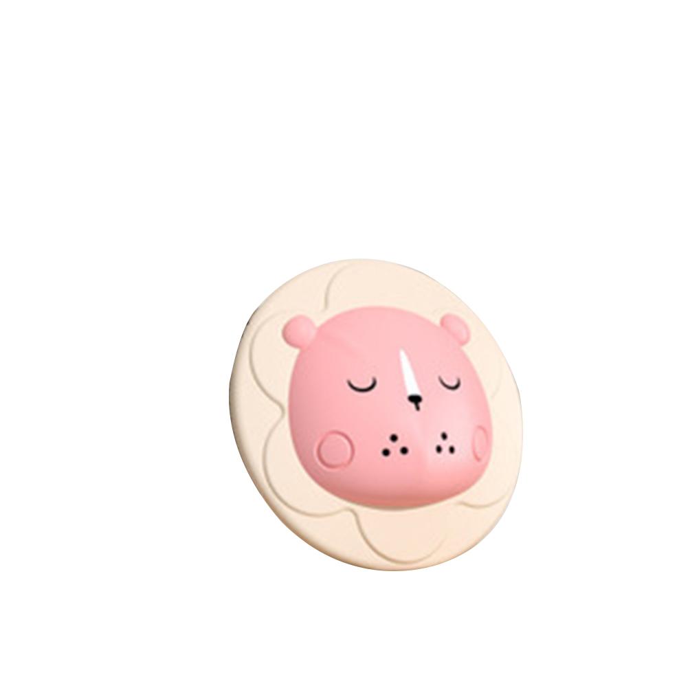 Silicone Baby Shampoo Brush Newborn Refreshing Baby Cartoon Bath  Brush Pink