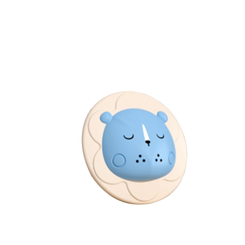 Silicone Baby Shampoo Brush Newborn Refreshing Baby Cartoon Bath  Brush blue