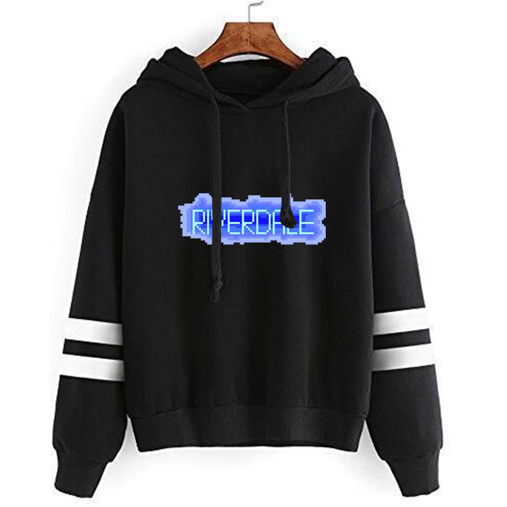 Men Women American Drama Riverdale Fleece Lined Thickening Hooded Sweater Black C_L