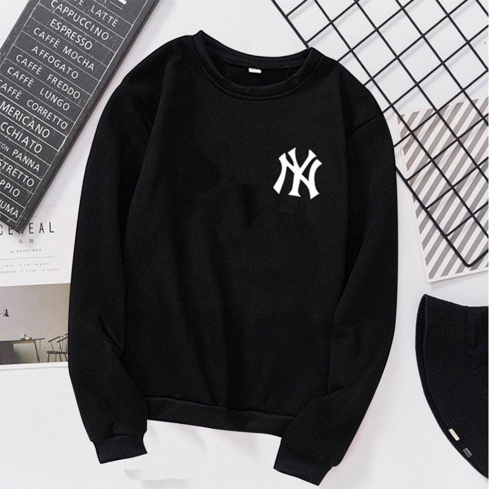 Men Women Lovers Fashion Round Collar Fleece Loose Hooded Sweatshirts Coat black_2XL