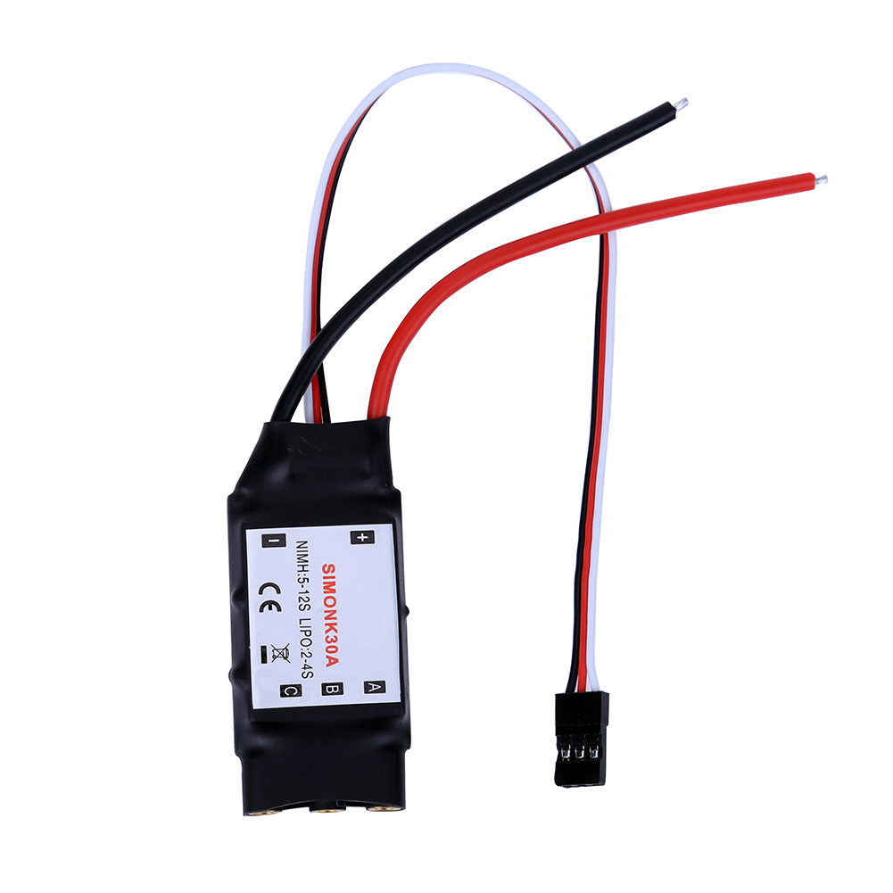2-4S SimonK ESC 5V 2A BEC with 3.5mm Banana Connector Support 4S battery for RC F450 S500 Quadcotper default