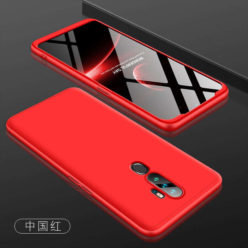 For OPPO A5 2020/A11X Cellphone Cover Hard PC Phone Case Bumper Protective Smartphone Shell red