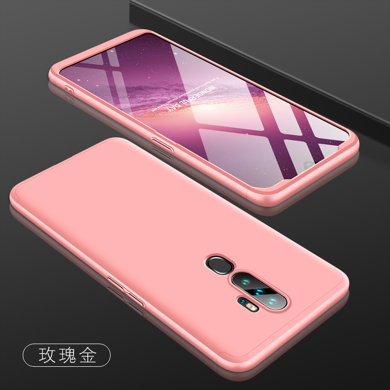 For OPPO A5 2020/A11X Cellphone Cover Hard PC Phone Case Bumper Protective Smartphone Shell rose gold