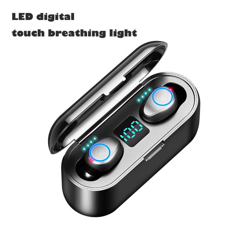 Digital Display LED Breathing Light TWS Binaural Call Bluetooth Headset Digital touch breathing light version