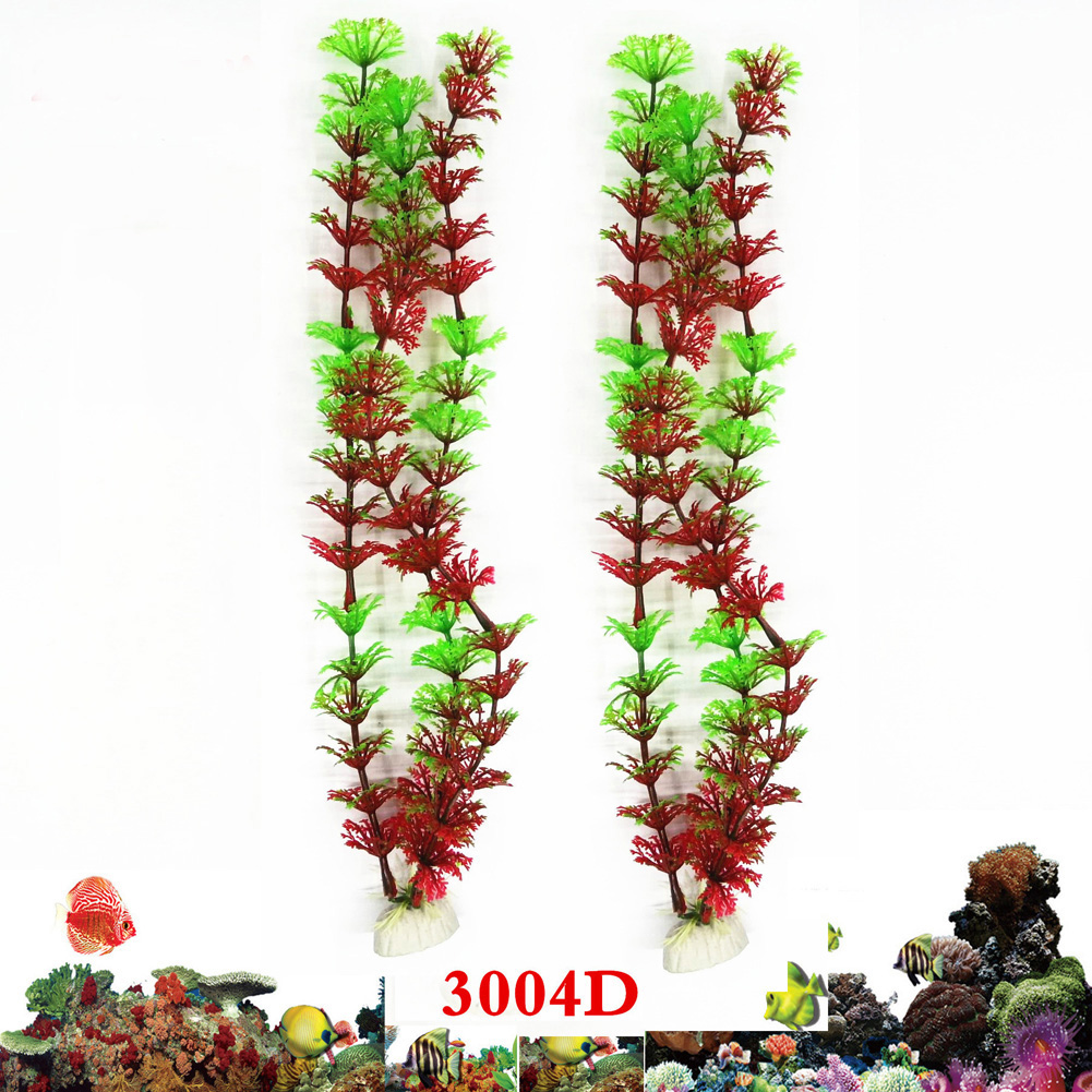 Simulated Water Grass for Fish Bowl Aquarium Landscape Decoration  red green