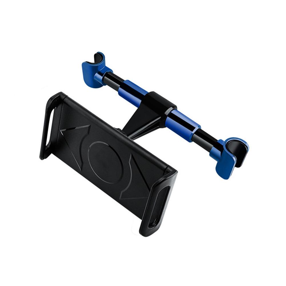 Car Headrest Mount Tablet Headrest Holder Stand Cradle 360-degree Rotation Seat Back Pillow Bracket Blue