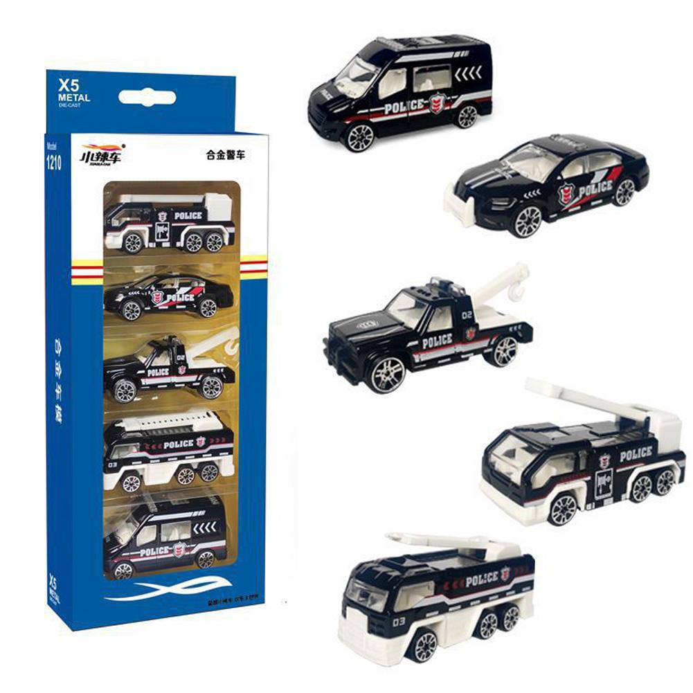 5pcs/set High Simulation Car Toys Vehicles Model Educational Toy for Kids 1210-902