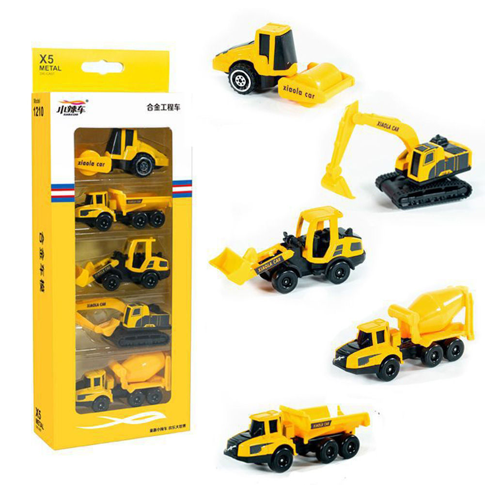 5pcs/set High Simulation Car Toys Vehicles Model Educational Toy for Kids 1210-901