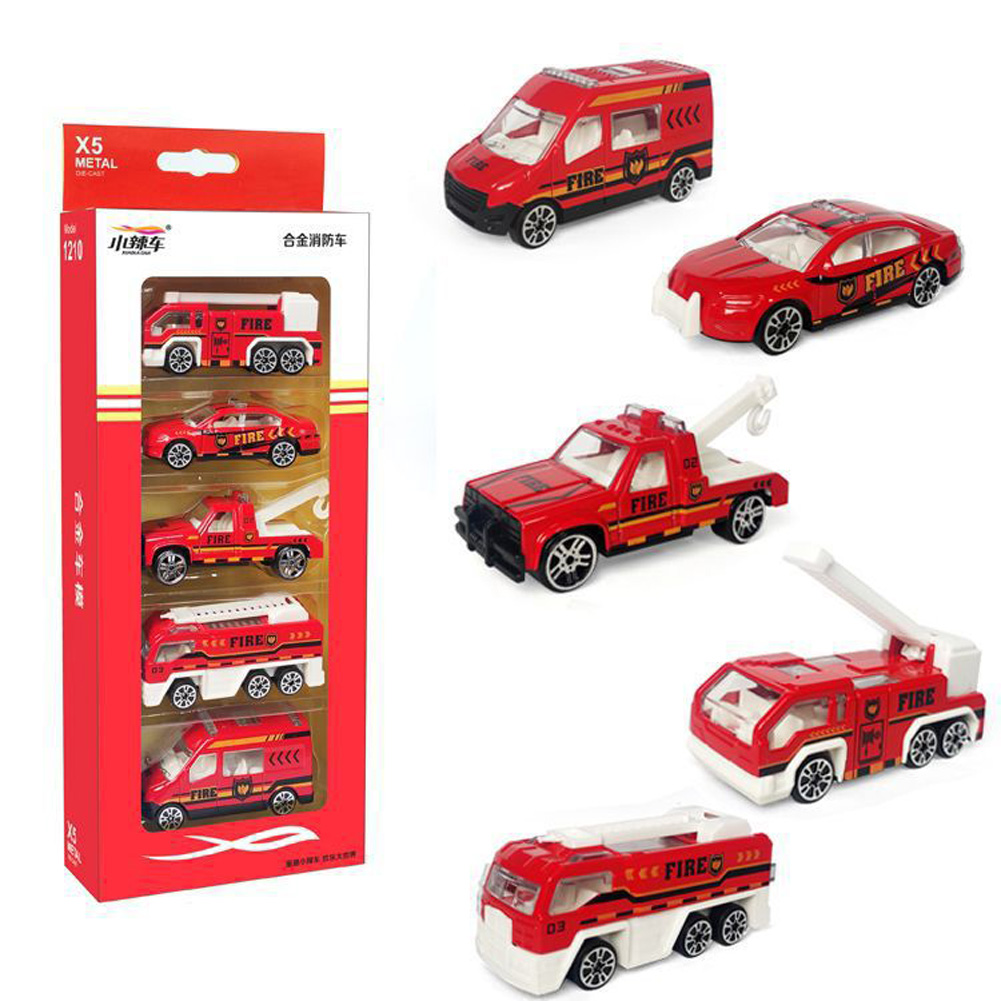 5pcs/set High Simulation Car Toys Vehicles Model Educational Toy for Kids 1210-900