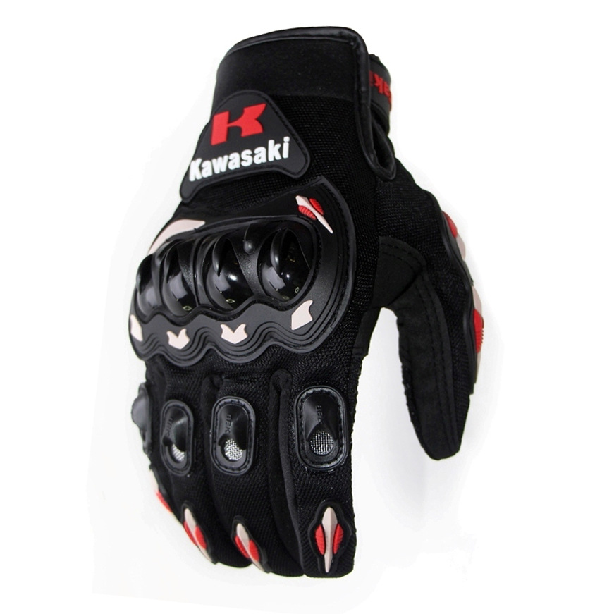 Winter Full Finger Motorcycle Gloves Leather Fabric Motorbike Guantes Gloves FT gray mark_XXL