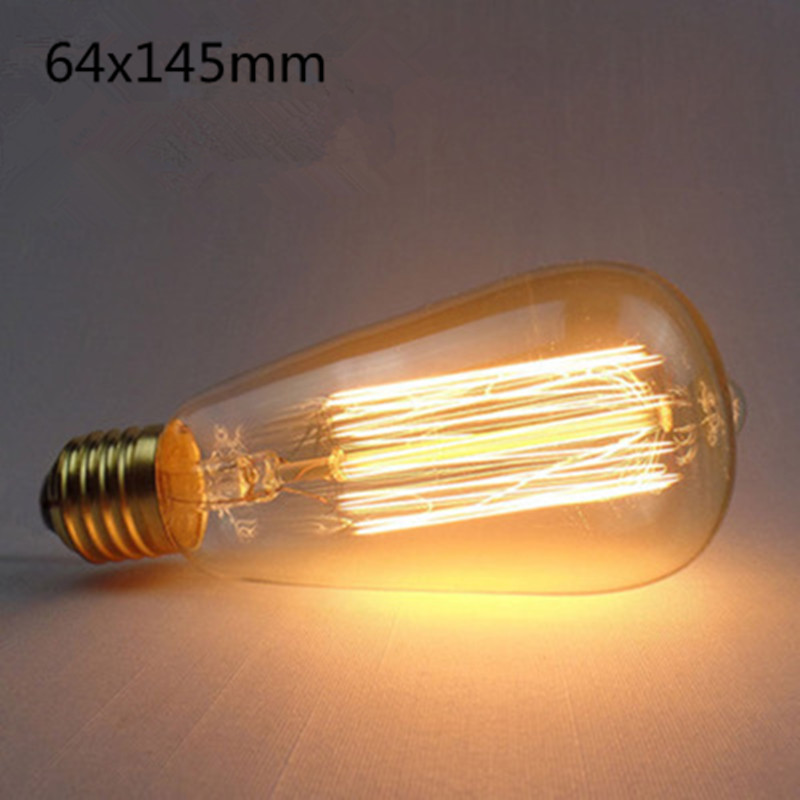 LED Retro Style Decorative Edison Tungsten Lamp Bulb for Home Hotel ST64 straight wire (pacifier)