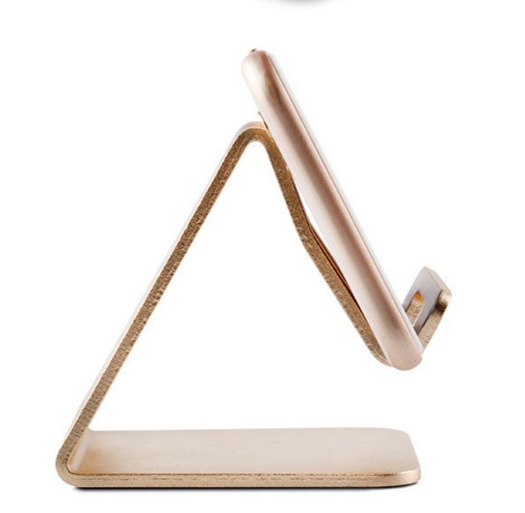 Mobile Phone Holder Stand Aluminium Alloy Metal Tablet Desk Holders Cellphone Stands  Golden