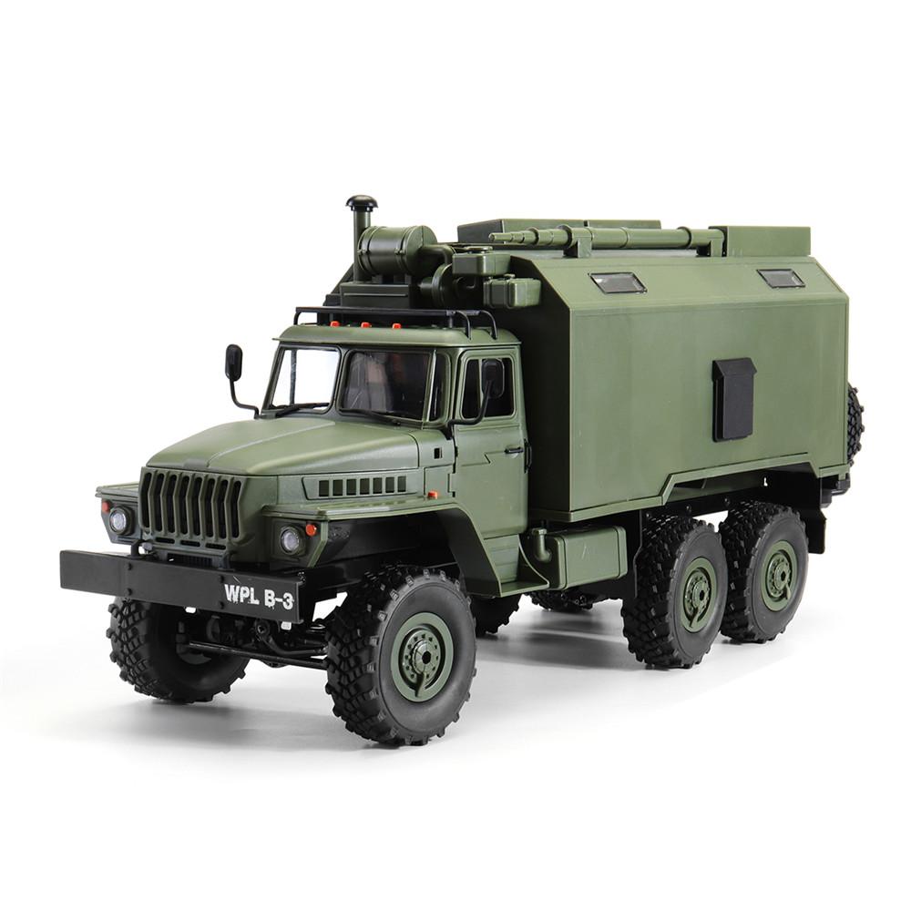 WPL B36 Ural 1/16 Kit 2.4G 6WD Rc Car Military Truck Rock Crawler No ESC Battery Transmitter Charger green
