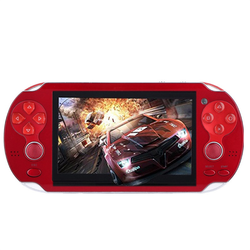 [Indonesia Direct] 4.3'' Multi-Function Portable Game Handheld Game Console 4Gb Memory Built in Video Camera Various No-repeat Games Red