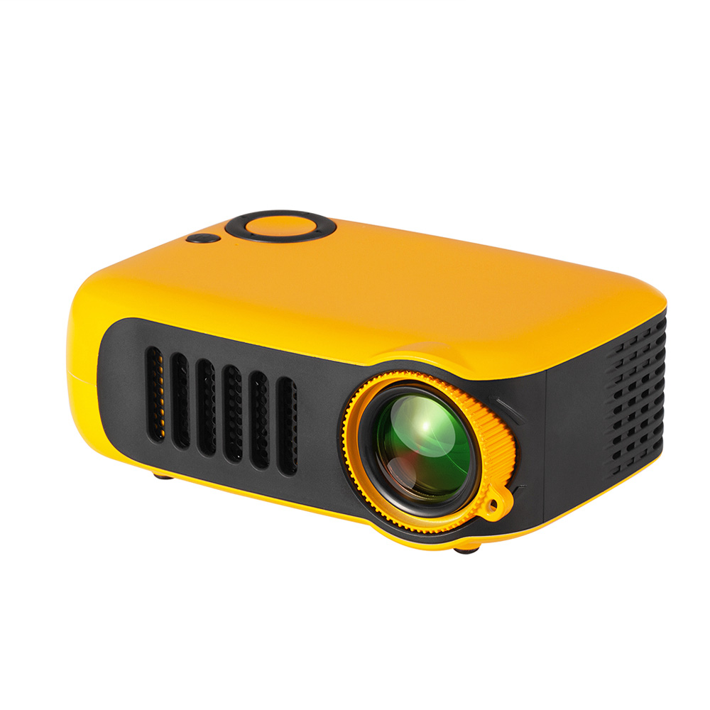 A2000 Mini Portable Digital Projector Home Use 720P High Definition Projector Orange_EU Plug