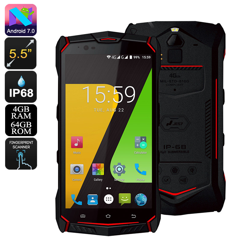 JESY J9S Rugged Phone (Red)