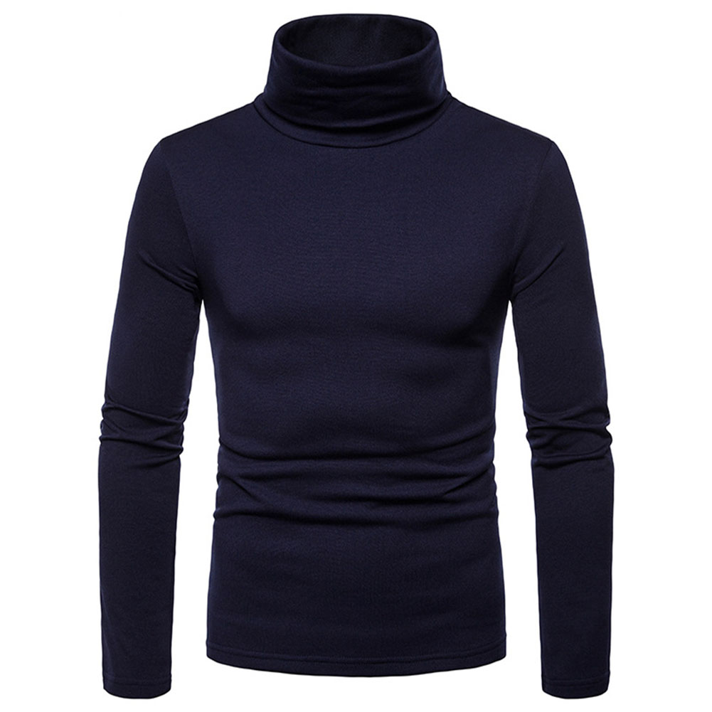Thermal Cotton Stretch Turtleneck Tops