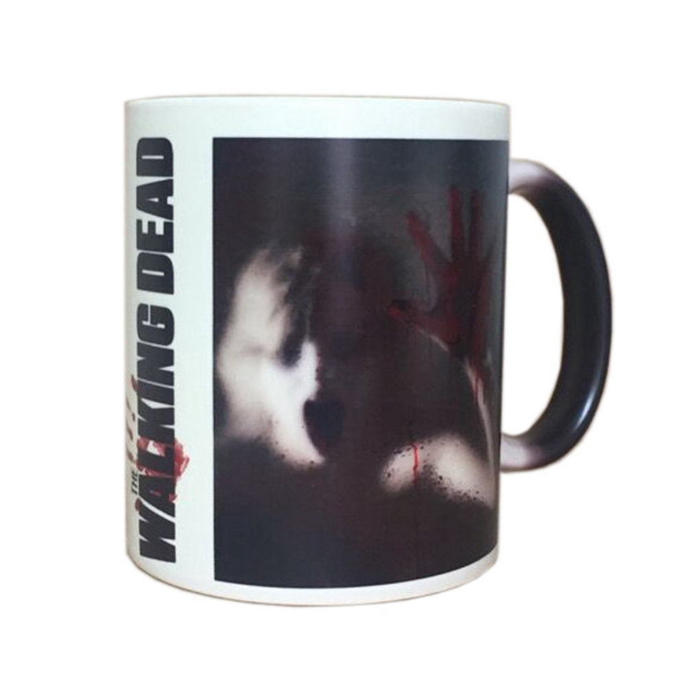 [EU Direct] The Walking Dead Female Zombie Mug Heat Sensitive Color Changing Coffee Tea Mug Ceramic Mug