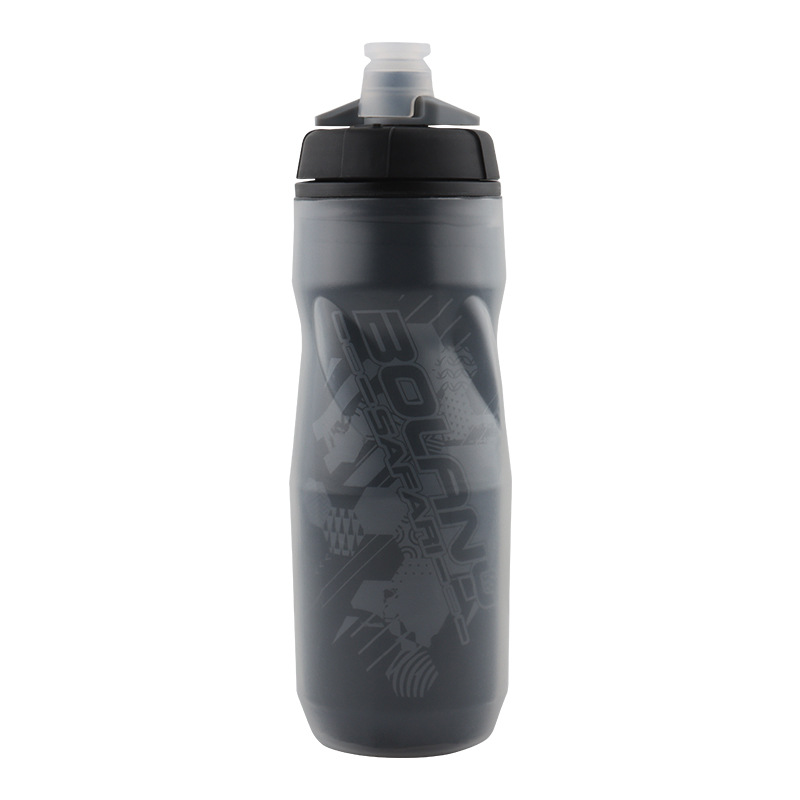 600ml Bike Cycling Water Bottle Heat - and ice-protected sports cup Cycling Equipment Mountain Bike Outdoor Water Bottle black