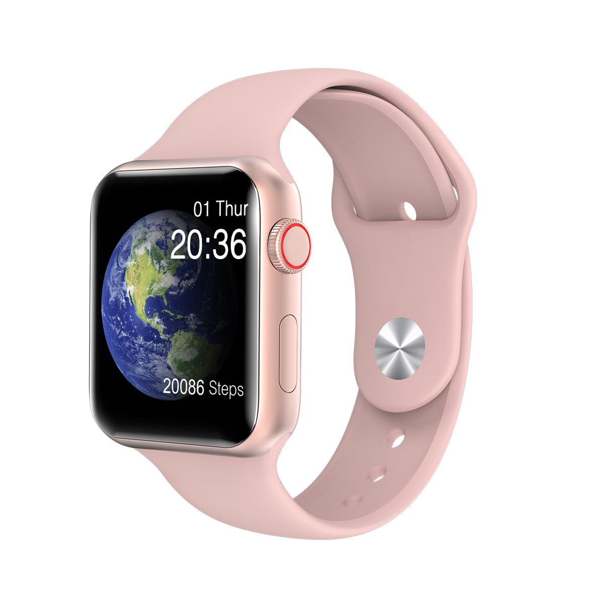 V6 Men Women Smart Watch Fitness Bracelet Smart Tracker Heart Rate Monitor IP67 Waterproof Hands Wearable Devices  Pink