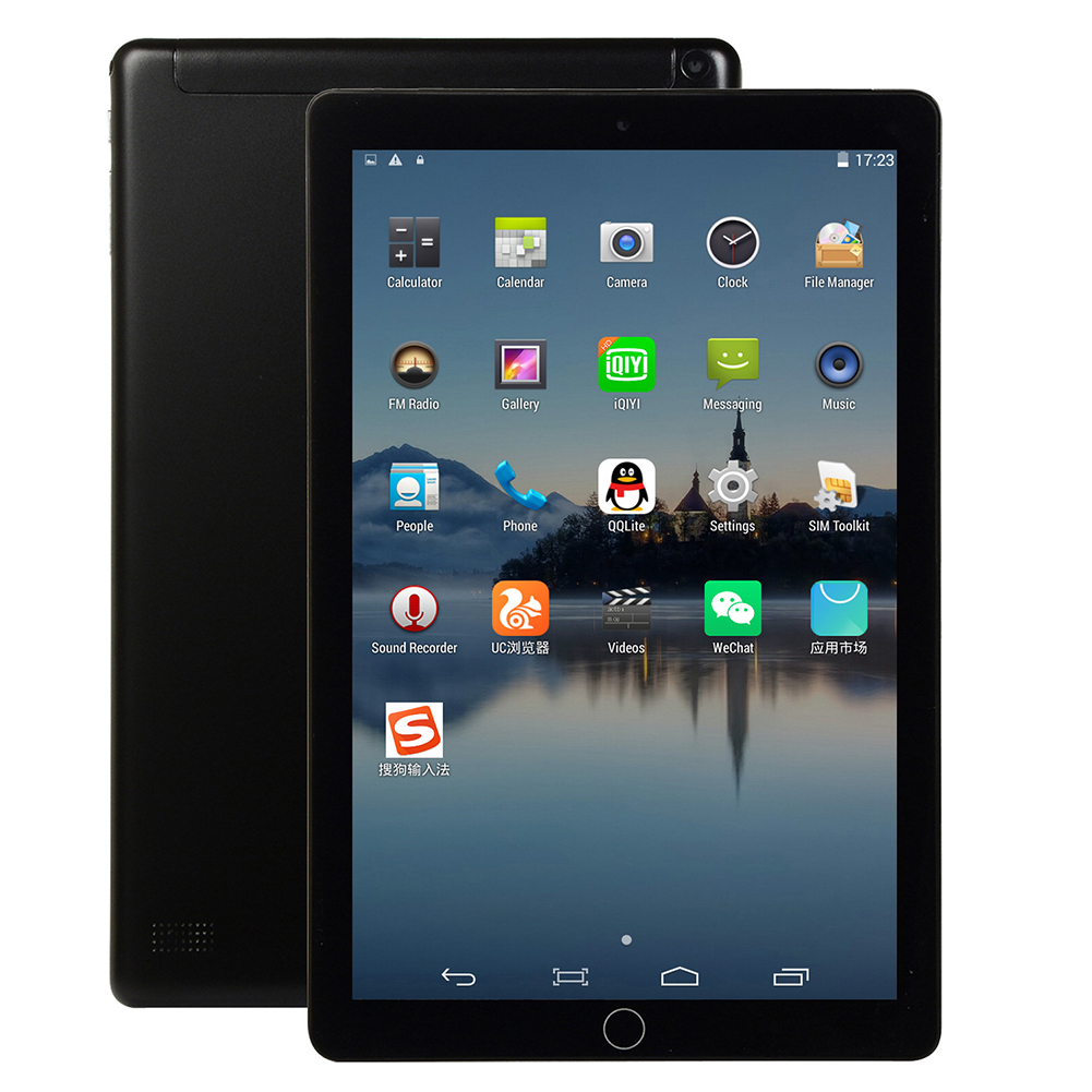10 Inch Android Tablet 16GB  Hard Drive Capacity 3G Call Tablet Phone Tablet Gaming WiFi Bluetooth black_Australian standard