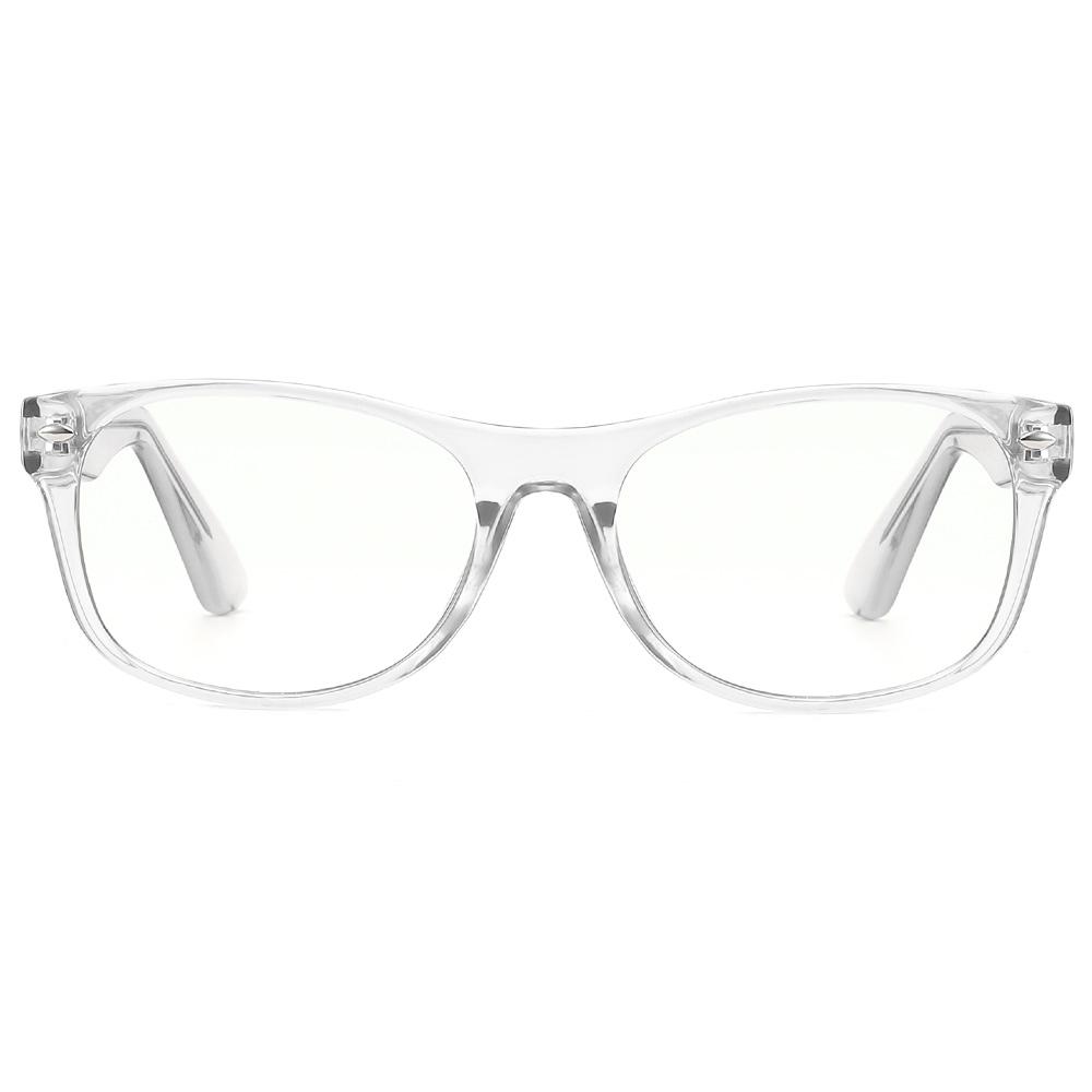 [US Direct] Cyxus Blue Light Blocking [Lightweight TR90] Glasses Anti Eye Strain Headache Computer Eyewear, Unisex (8323T01, Black) Block Droplets Crystal_M