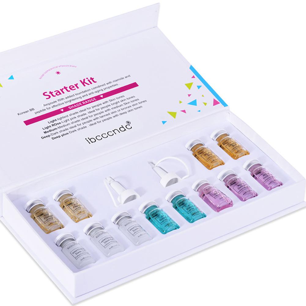 Pro 8ml mix shades brightening foundation acne healing Dermawhite treatment 01 pure essence