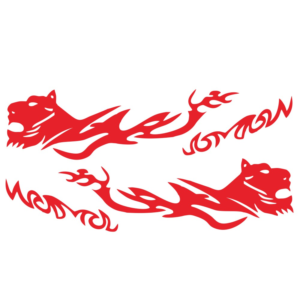 D-1042 2pcs Car Stickers Auto Body Vinyl Long Decals Waterproof Striped Stickers Auto Diy Car Sticker Style red