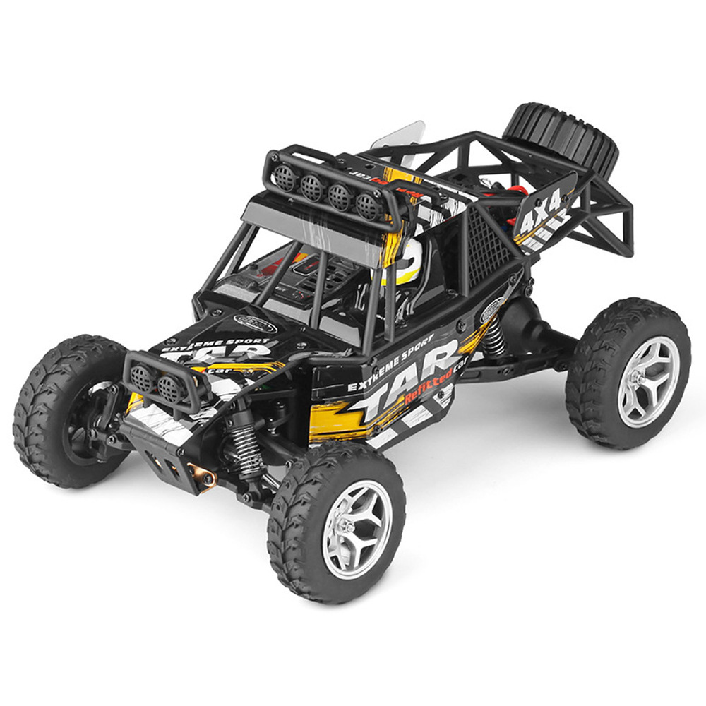 1:18 Four-wheel Drive RC Desert Truck Fast Speed Remote Control Car Toy black