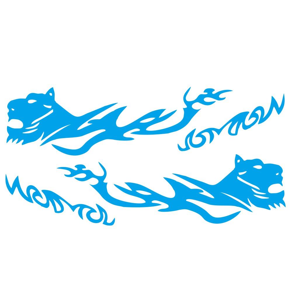 D-1042 2pcs Car Stickers Auto Body Vinyl Long Decals Waterproof Striped Stickers Auto Diy Car Sticker Style blue
