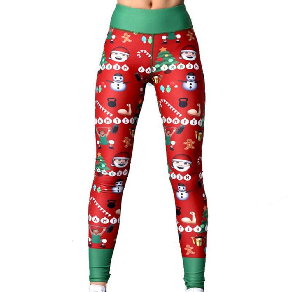 Women Unique Christmas Printing Fitness Lift Hip Fashion Female Leggings Yoga Pants