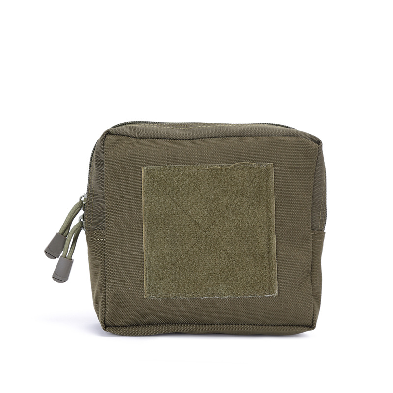 MOLLE Nylon Pouch Zippered Bag Little Pack Camping Climbing Supplies for Man and Woman Military color_16*15*5cm