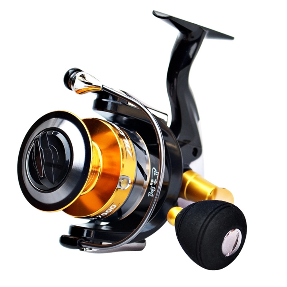 15 Axis Gapless Double Ring Sea-water Proof Spinning Fishing Wheel STR5000
