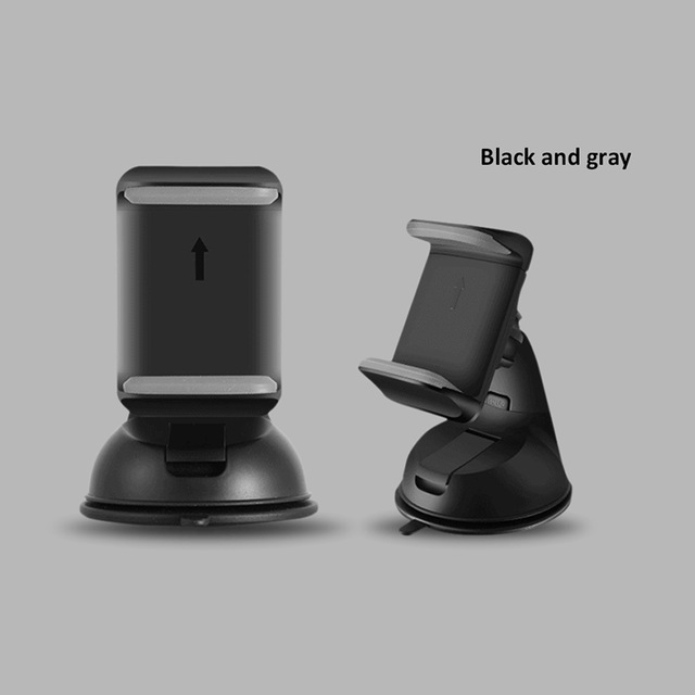Universal Automobile Dashboard Windshield Navigation Support Car Suction Cup 360 degree Rotatable Detachable Vehicle Bracket Phone Holder for 3.5-6.0 inch Cellphone Black